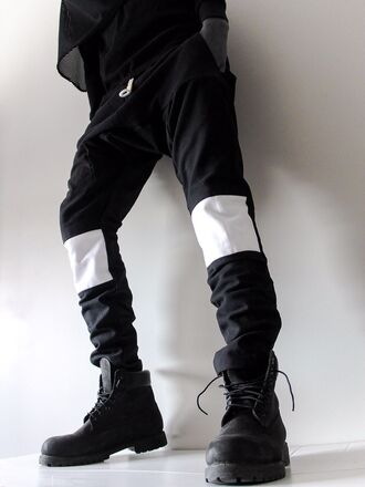 pants hba hood by air hba hoodbyair hood by air vest menswear zip zipper blvck mens pants ninja goth street goth fashion dark