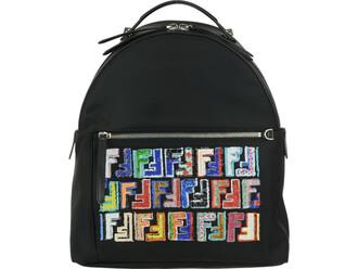 backpack black multicolor bag