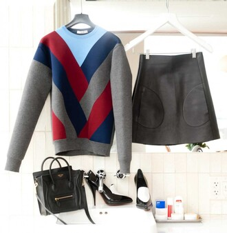 sweater scuba scuba top sweater/sweatshirt grey sweater dress grey sweater colorblock