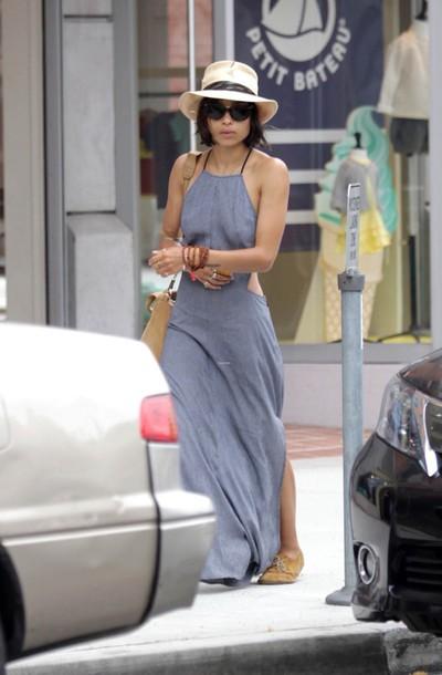 dress halter neck long dress
