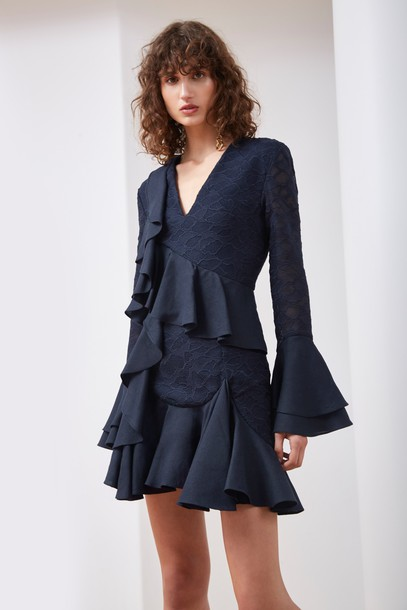 C/MEO COLLECTIVE dress long sleeve dress long navy