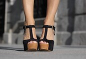 shoes,heels,wood,wooden,black,t-strap,t-strap heels,buckles,wedges,fashion,style,trendy,tumblr