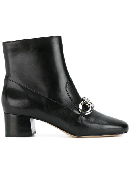 MICHAEL Michael Kors women ankle boots leather black shoes