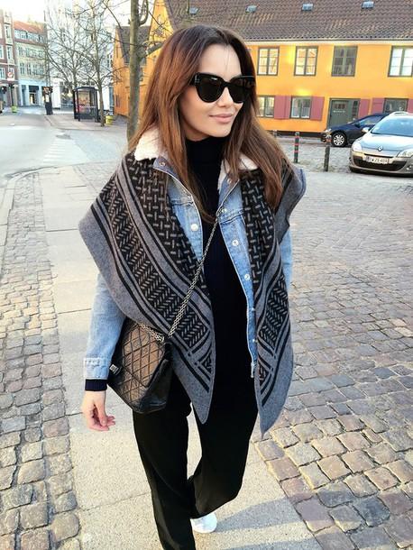 by funda blogger jacket pants scarf shoes