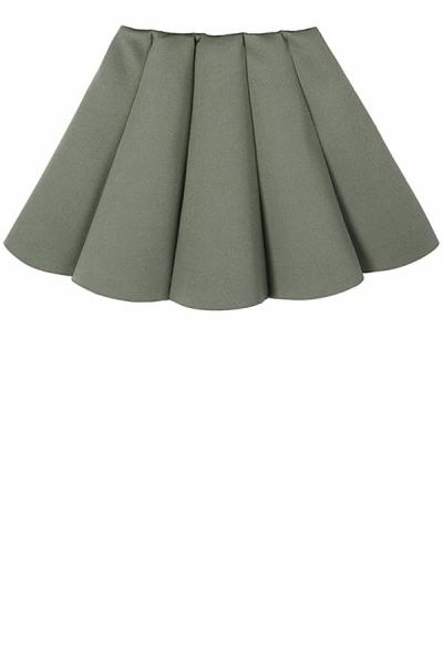 Pleated A-line Skirt - OASAP.com