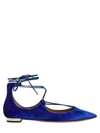 flats cotton velvet blue royal blue shoes