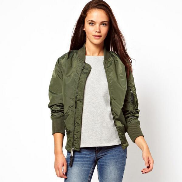 fashion spring ladies bomber jackets women coat solid cardigans ...