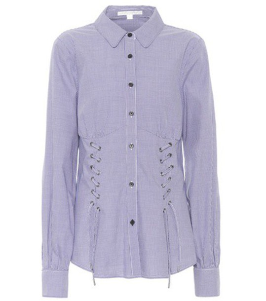 Jonathan Simkhai shirt cotton gingham blue top