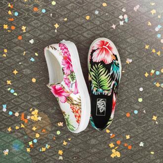 shoes vans floral flowers vans sneakers