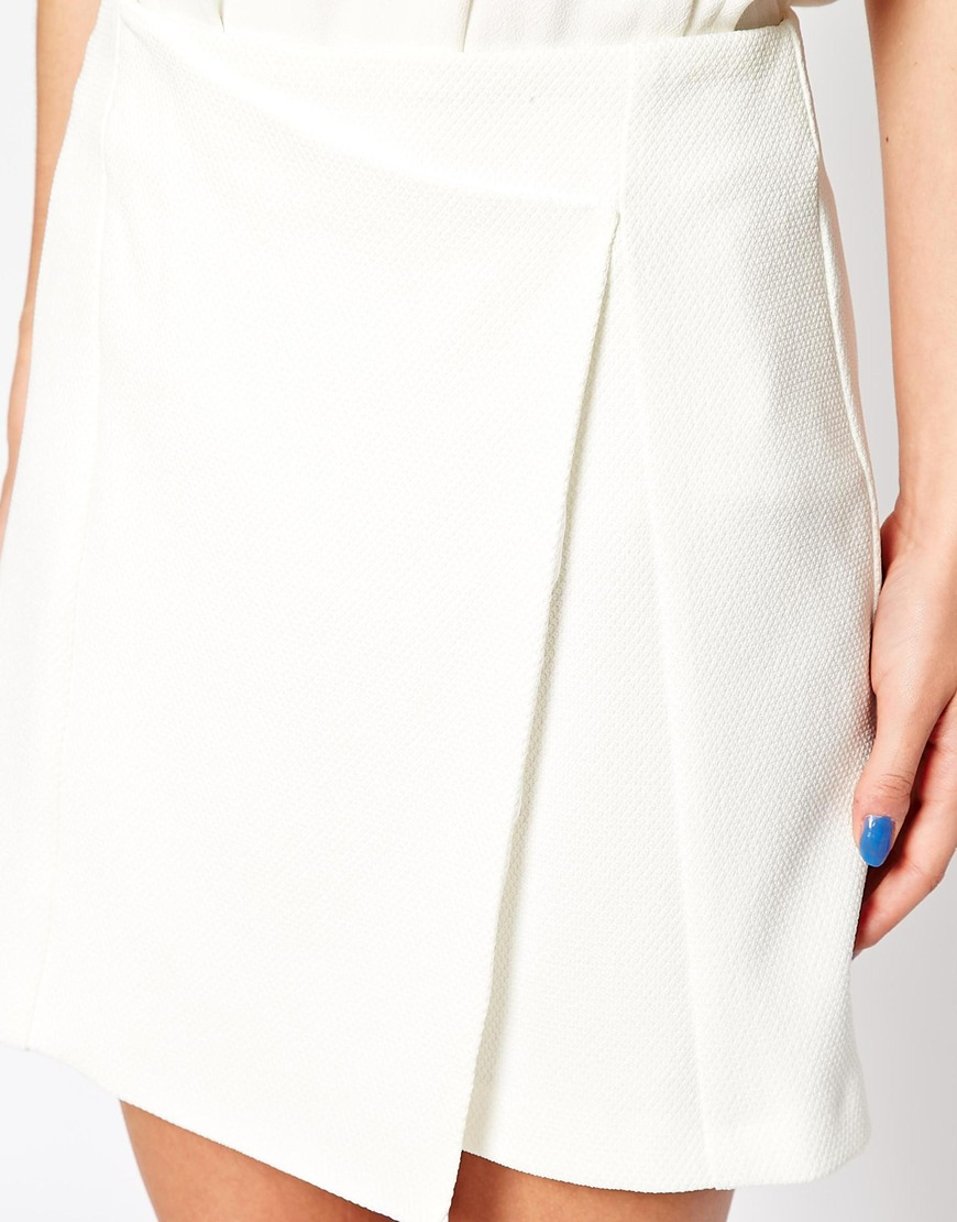 New Look Textured Wrap Skirt at asos.com