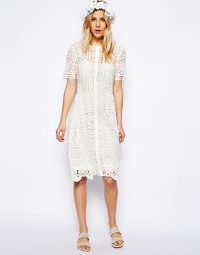 ASOS | ASOS Premium Lace Midi Dress at ASOS