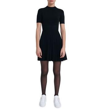dress pleated dress pleated black