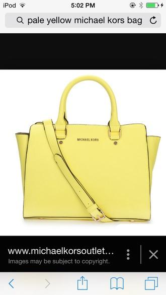 bag yellow bag yellow pale yellow michael kors bag satchel selma michael kors selma michael kors michael kors handbag michael kors clutch