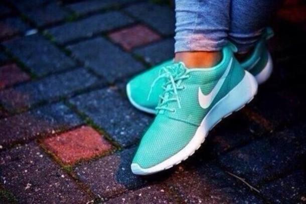shoes nike bag nike roshe run nike roshe run run turquoise white amazing