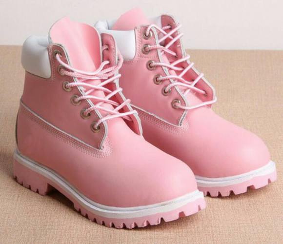 light pink shoes timberlands light