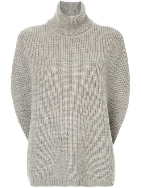 Ck Calvin Klein poncho top back open open back women wool