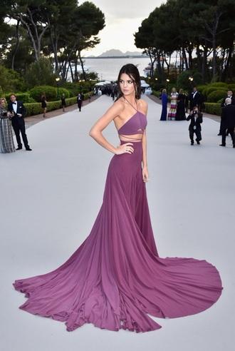 dress purple kendall jenner