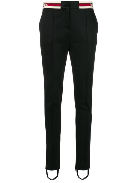 gucci women cotton black pants