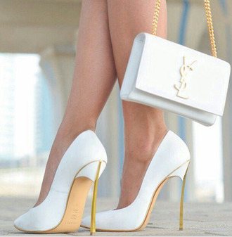 bag white white bag white shoes shoes heels indie fashion shirt white heels