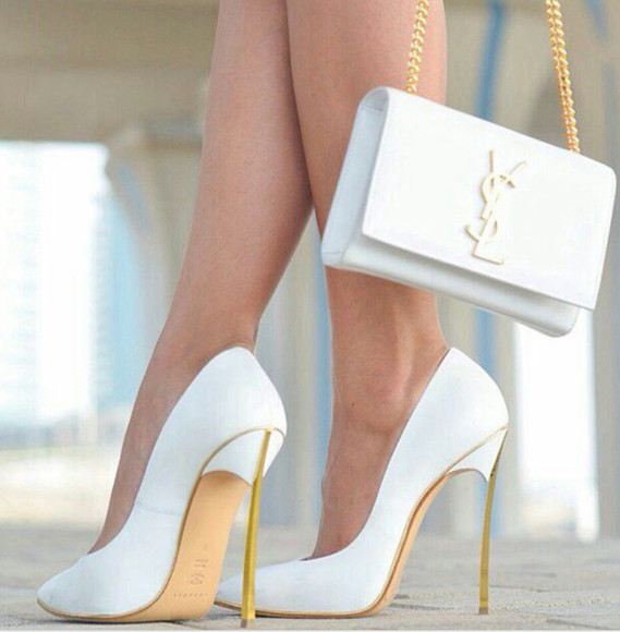 bag white white bag shirt white shoes shoes high heels indie fashion