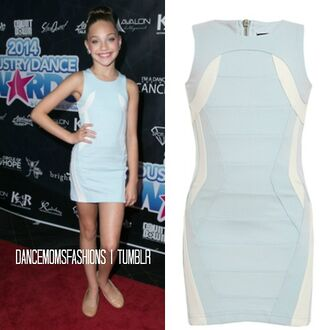 dance moms maddie ziegler blue dress red carpet were to get ?