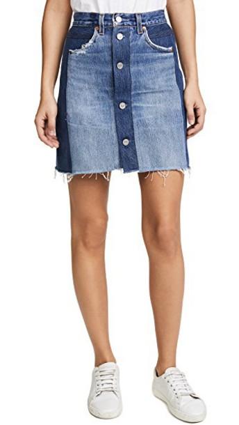 Re/Done miniskirt high waisted high skirt