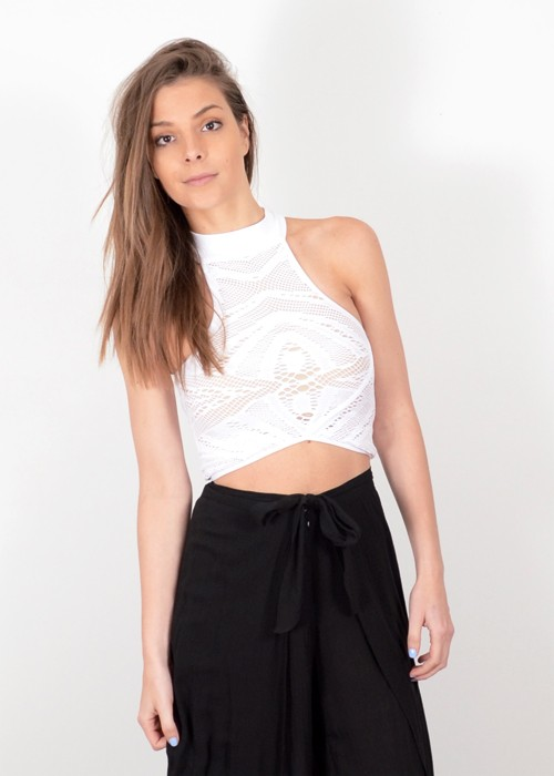 Whitney Eve Windsor Crop Top - White