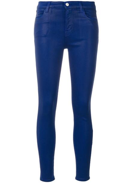 J BRAND women spandex cotton blue pants