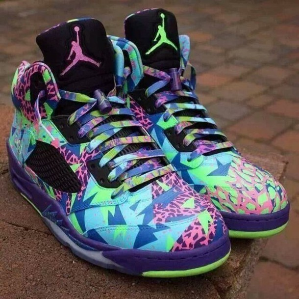 shoes colorful pattern retro jordans jordans cool cool colors exotic air  jordan blouse belair