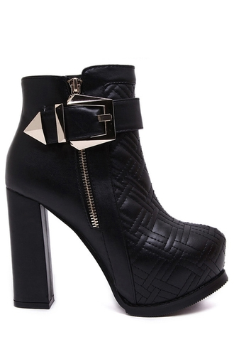shoes boots platform shoes grunge shoes grunge zaful ankle boots chelsea boots high heels buckle black gold silver metallic quilt quilted zip