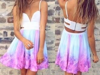 dress pastel galaxy multicolor