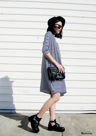 dress aline stripes summer striped dress black and white black and white dress wide dress beauty fashion vintage dress vintage grunge grunge dress