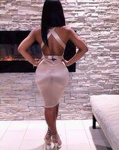 dress,satin,silk,bodycon,pink,blush pink,bodycon dress