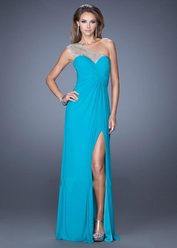 dress wedding dress prom dress bridesmaid party dress one shoulder evening dress blue dress long prom dress homecoming dress