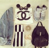 sunglasses,mickey mouse,jeans,sneakers,backpack,bag,shirt,clothes,jacket,jewels,shorts,tee short,t-shirt,denim,shoes