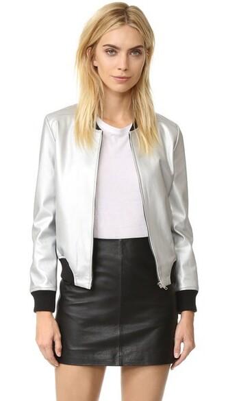 jacket bomber jacket silver