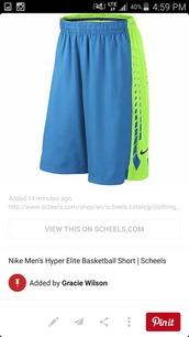 shorts,nike shorts green and blue