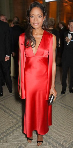 dress gown red dress red naomie harris