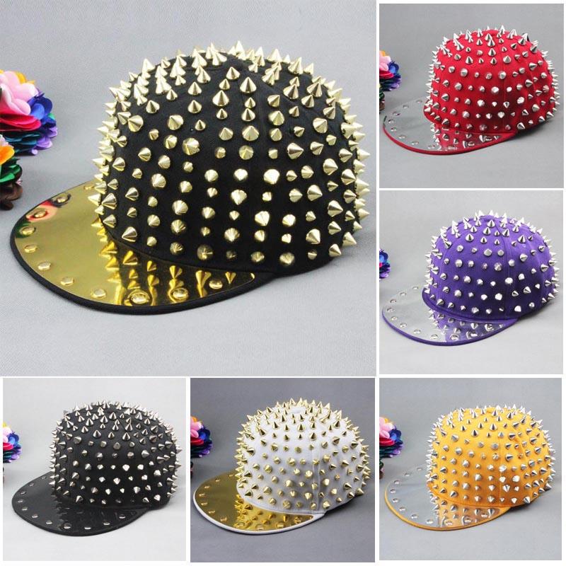 New hot Bigbang jazz hat baseball cap Men/ Women Spike Studs Rivet Cap Hat Punk style Rock Hiphop For Pick Free shipping-in Baseball Caps from Apparel & Accessories on Aliexpress.com