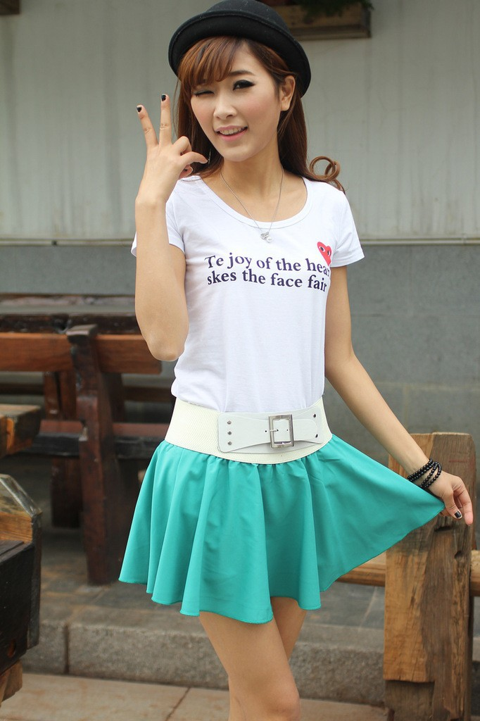 fashion new Summer new Korean version of the candy colored loose tight little pleated skirt  free shipping-in Skirts from Apparel & Accessories on Aliexpress.com