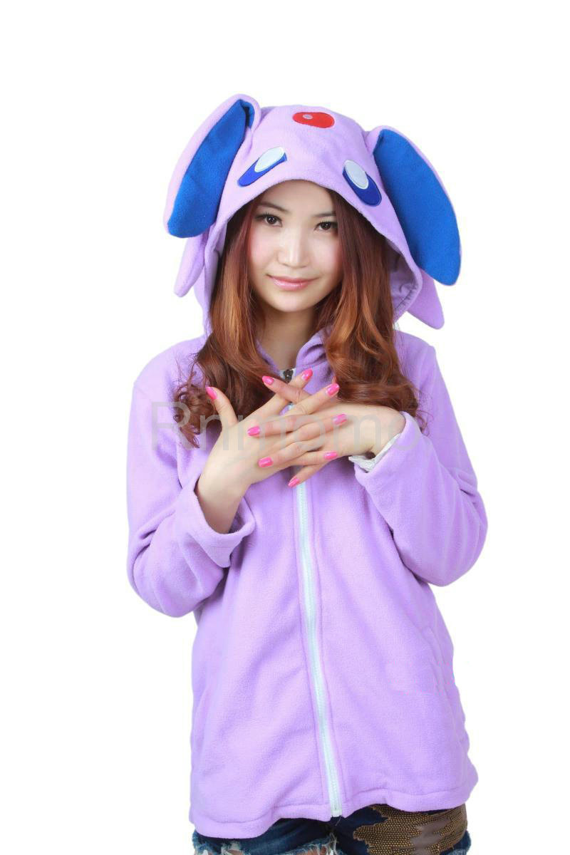 Cosplay charactor animal hooded hoody hood coat jumper adult costume outfit hoodies sweatshirt jacket zip up