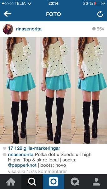 skirt turquoise cute