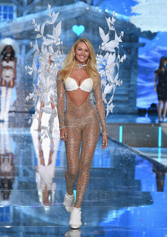 underwear bra candice swanepoel runway tights leggings victoria's secret