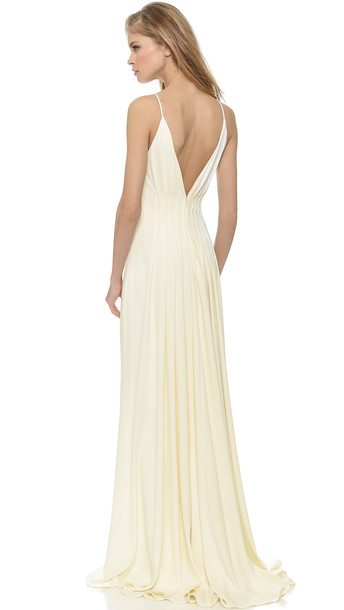 Badgley Mischka Collection Open Back Gown - Ivory