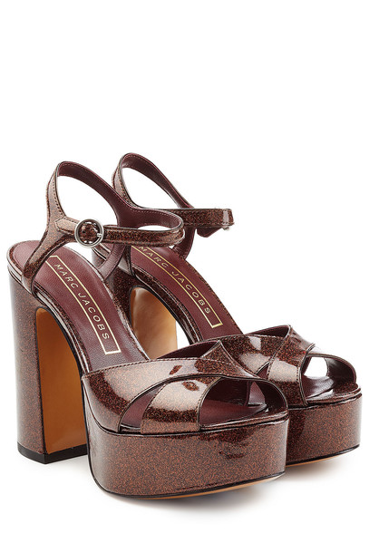 Marc Jacobs Leather Platform Sandals  in brown