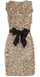 dress,sequin dress,gold,short dress,new year's eve,bow,black,gold sequins,gold dress
