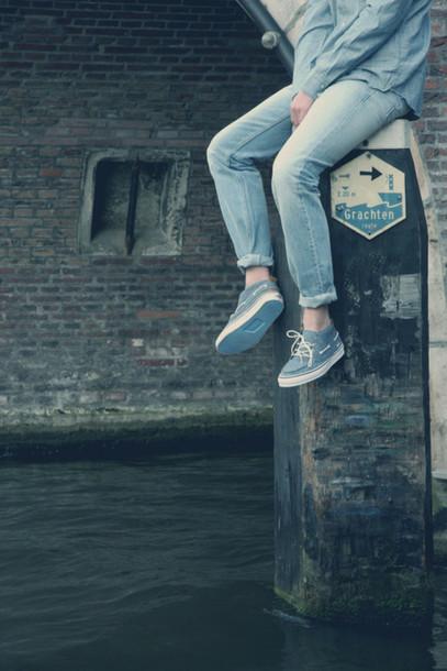 shoes blue shoes sailor summer low shoes white