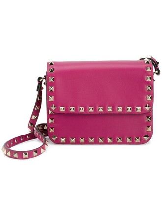 mini shoulder bag mini metal women bag shoulder bag leather cotton purple pink