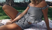 shorts,two pieces women sets,matching set,checkered