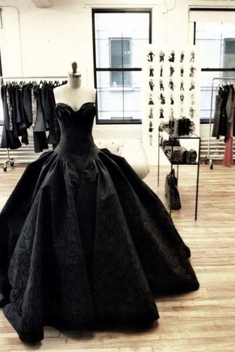 dress black black dress ball gown dress